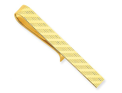 Mens Tie Bar in 14K Yellow Gold by Gem And Harmony