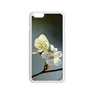 Butterfly And Flower Hight Quality Plastic Case for Iphone 6