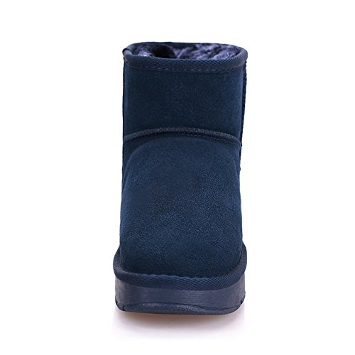 Boots 7 Solid 1TO9 Womens Blue UK Closure Boots Leather No Ttx4qwvxA