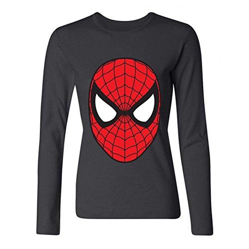 JXK Women's Spiderman Red Logo Unique Humor Long