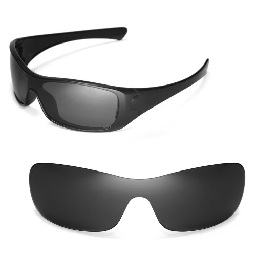 Walleva Replacement Lenses for Oakley Antix Sunglasses - Multiple Options Available (Black - ()