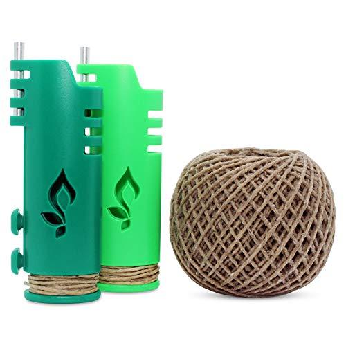 Hemp Wick Bundle Pack: 200 FT Hemp Roll + 2 Hemp Wick Lighters (Lime/Green) ...