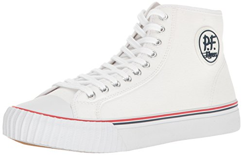 Patterned Center (PF Flyers Men's MC2001WT, White, 5.5 D US)