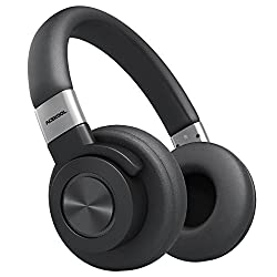 Acekool 50hr Wireless Headphones Over-Ear, HiFi Stereo Bluetooth Headset, Crystal Clear Sound, Quick Charge, Soft Memory Earmuffs, Mic and Wired Mode for PC/ Tablets/ Cellphone/ TV