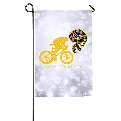 FOOOKL Sugar Skull Cycling Bike Bicycle Home Family Party Flag 101 Hipster Welcomes The Banner Garden Flags -