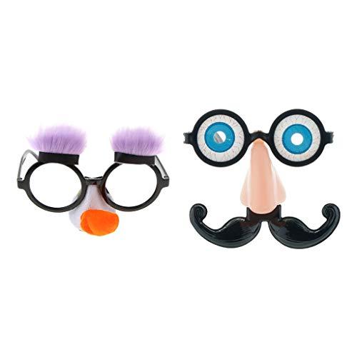 CUTICATE 2pcs Novelty Eyeball Glasses Halloween Costume Fancy Dress Party Prank Gift Toys