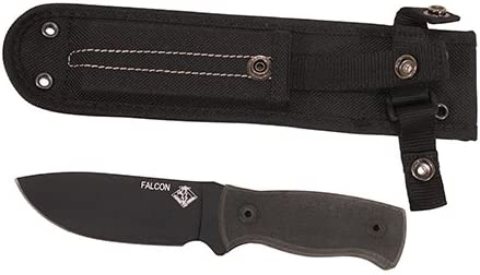 Ontario Knife Company 8673 Ranger, Falcon Hunting Knife 3-7 8 Carbon Steel Blade, Micarta Handle
