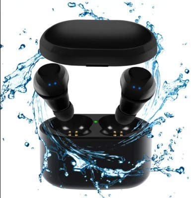 Waterproof Bluetooth 5.0 Wireless Earbuds Sports One Touch 3D Noise Canceling HiFi Stereo Sound with Mic and Charging Case for iPhone Androids Tablets and Bluetooth Devices