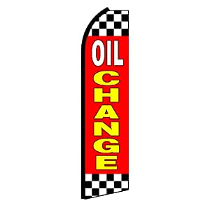 """NEOPlex - """"Oil Change"""" Swooper Feather Business Flag"""