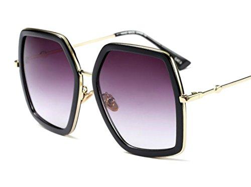 Oversized Geometric Sunglasses for Women (Black, - Frames Glasses 70s
