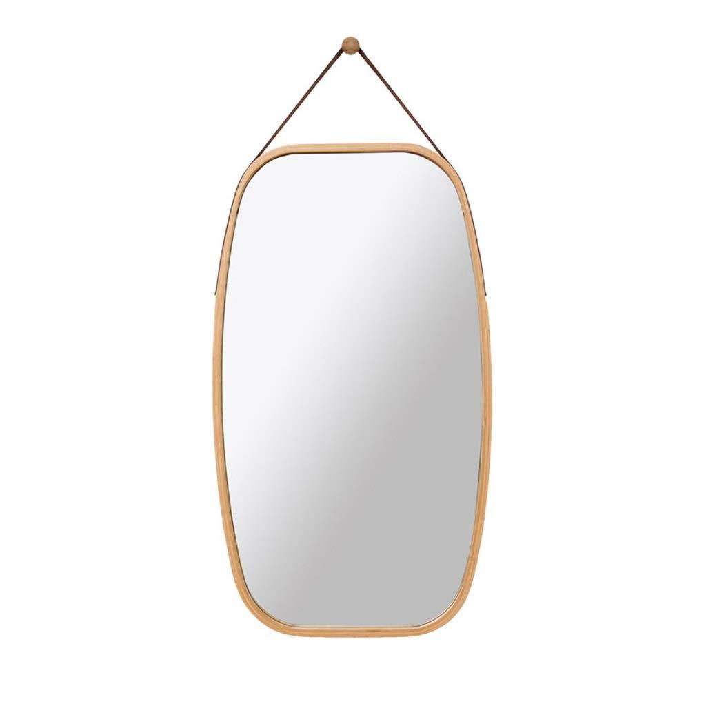 D GAIXIA Genuine Cork Decorative Wall Mirror PU Round Square Mirror Four Styles Wall Mirror (Size   B)