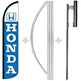 Honda Windless Full Sleeve Swooper Feather Flag, Flagpole, & Ground Spike Kit
