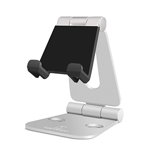 Cell Phone Tablet Video Game Stand, Lamicall Multi-Angle Stand : Dock for Nintendo Switch iPhone 7 6 Plus 5 5c, Accessories, iPad and Tablets (4-10'') Foldable Adjustable Desk - Silver