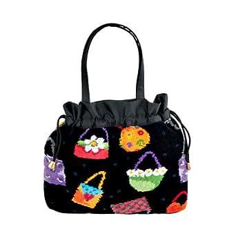 Feiler Crazy Bag Chenille Bucket Bag for Women - Multi Color