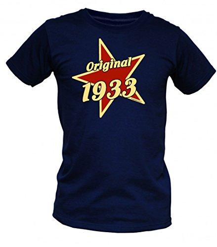 Birthday Shirt - Original 1933 - Lustiges T-Shirt als Geschenk zum Geburtstag - Blau