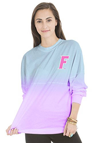 NCAA Florida Gators Women's Tess Long Sleeve Ombre Football - Bound Florida Tee Gators