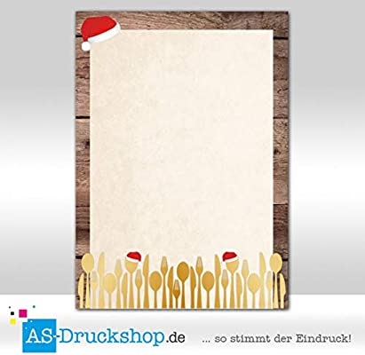 Papel de diseño de Navidad - Cubiertos con gorro/100 hojas/DIN A5 ...