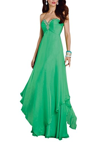 Charm Bridal Green sequins chiffon sequin summer dress Prom Party dresses long -16-Green by Charm Bridal