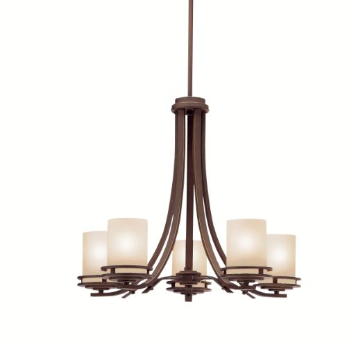 Kichler Lighting 1672OZ 5-Light Hendrik Incandescent Chandelier, Old Bronze