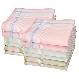Betz 12 Women Handkerchiefs Paloma 2 Size: 30×30 cm 100% cotton