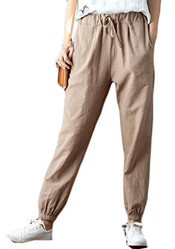 Linen Ankle Pants - 8