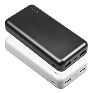 ENEGON 2-Pack Portable Power Bank 20000mAh, The Phone Charger Battery with USB C Input and Dual USB Output for iPhone, iPad, Galaxy S9, Tablets and More