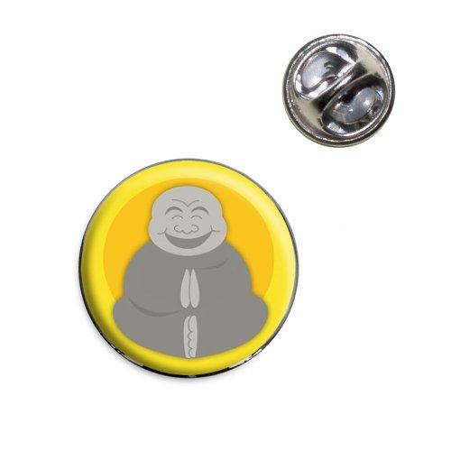 Oh My Buddha Happy Fat Buddha Yellow Lapel Hat Tie Pin Tack