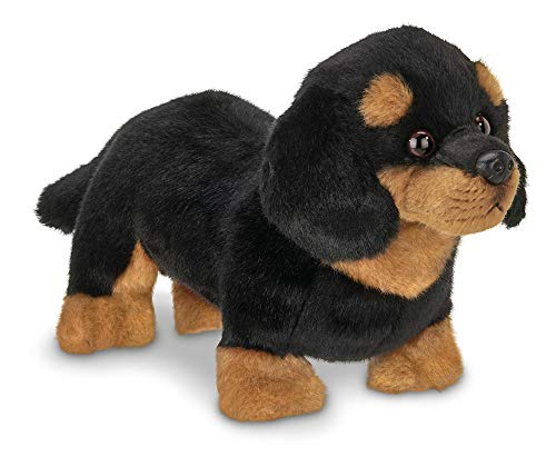 Bearington Harley Black and Tan Dachshund Plush Stuffed Animal Puppy Dog, 13 inches (Dachshund Stuffed)