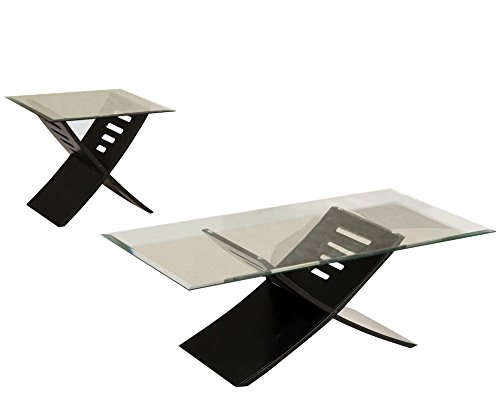 - ACME Elhan Black Coffee End Table Set 3 Piece