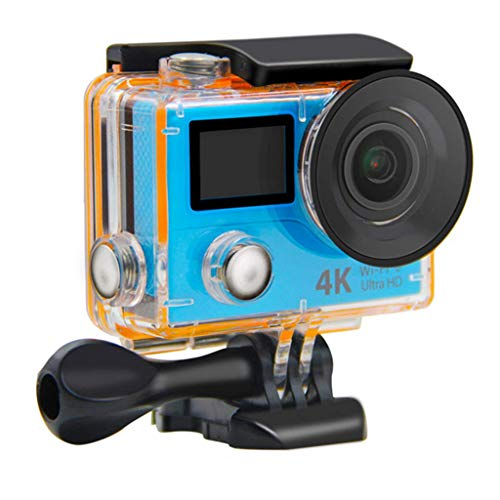 Action Cameras H3R 4K WiFi Color Dual Screen 2.4G Remote Control Underwater Motion Cam - 170 Degree Ultra Wide Angle Lens - 1050MA Rechargeable Battery
