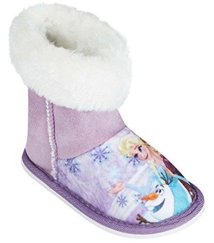 chaussons - Bottes d'intérieur enfant fille La reine des neiges Violet de 24 à 31