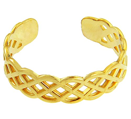 10k Yellow Gold Trinity Knot Celtic Toe Ring by More Toe Rings (Image #1)