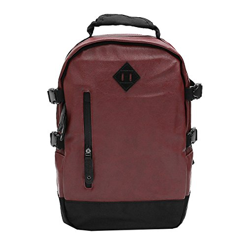 purpose Red Men's Laidaye Pu Leisure Backpack Business Shoulder Bag Multi Travel pqW4n0Pq
