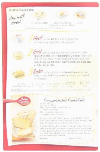 Recipes for betty crocker pound cake mix