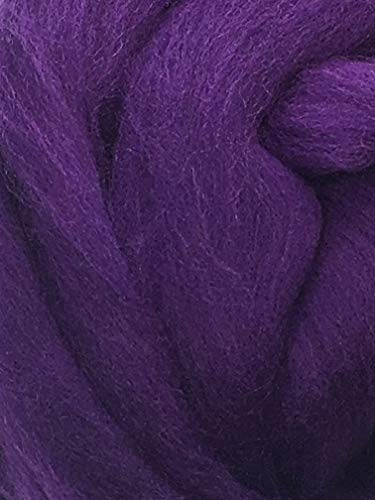 Purple Grape Wool Top Roving Fiber Spinning, Felting Crafts USA (1lb) by Shep's Wool (Image #3)