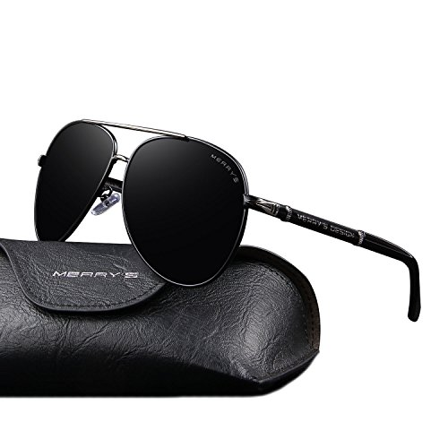 MERRY'S Design Men Sunglasses HD Polarized Luxury Shades UV400 S8728 (Black, - Best Sunglasses For Men Luxury