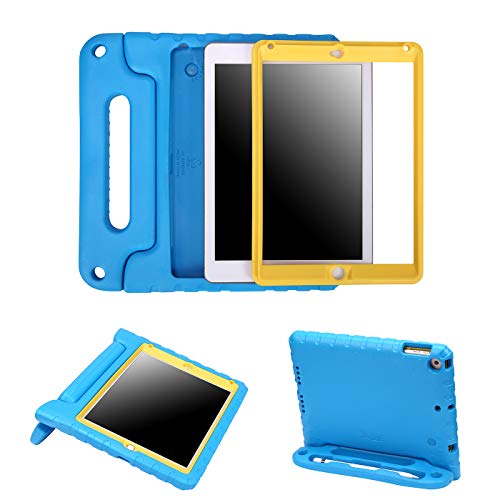 - HDE Case for iPad 9.7-inch 2018 / 2017 Kids Shockproof Bumper Hard Cover Handle Stand w/ Built in Screen Protector for New Apple Education iPad 9.7 Inch (6th Gen) / 5th Generation iPad 9.7 Blue Yellow