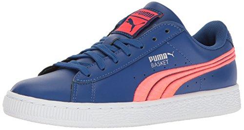 Puma Heren Basket Klassiek Kenteken Mode Sneaker True Blue-bright Plasma