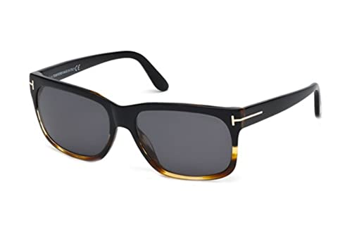 a6f6c60985 Tom Ford M-SG-2009 FT0376-F Barbara 05D - Black   Havana Polarized Mens  Sunglasses