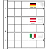 5 small Prophila coin sheets for euro coins with flags cards