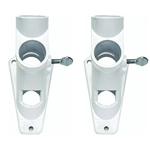 Valley Forge Flag 2 Position 1'' White Powder Coated Aluminum Flag Pole Bracket (2 Pack) by Valley Forge Flag (Image #3)