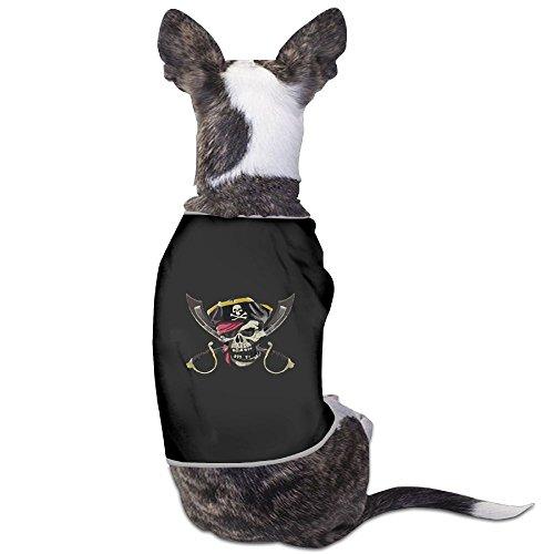Skkoka Fashion Sleeveless Pet Supplies Dog Cat Clothes Pirate Skull Crossed Swords Pet Apparel Clothing S Black]()
