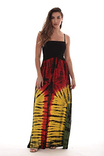 (Riviera Sun Rasta Long Smocking Dresses for Women)