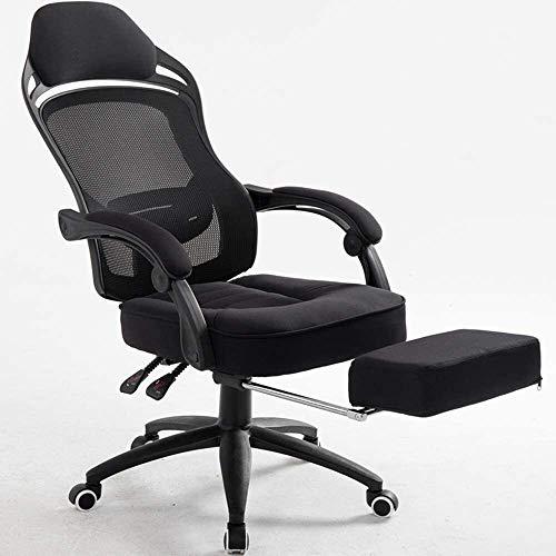 WANGCAI Boss Office Leisure Swivel Chair,Breathable mesh Sponge Cushion 150° Reclining Office Home Lift Swivel Chair, 66x66x117-126CM Chair (Color : White, Size : B)