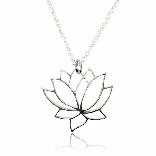 SOVATS Lotus Flower Pendant for Necklace for Women 925 Sterling Silver Rhodium Plated for Your Loved Ones on a Special Day