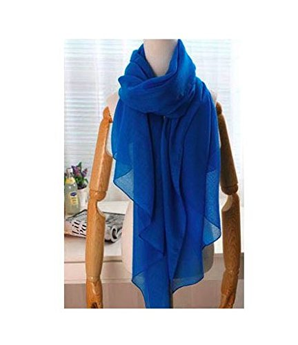 NEW Hot Fashion Style Autumn and Spring Warm Solid Color All-match Pleated Muslim Hijab Female/women 180*100cm Blue