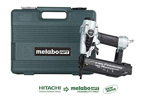 Metabo HPT NT50AE2 Pneumatic Brad Nailer, 5 8-Inch up to 2-Inch Brad Nails, 18 Gauge, Tool-less Depth Adjustment, Selective Actuation Switch, 5-Year Warranty
