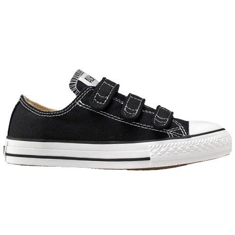 KIDS CONVERSE ALL STAR 3 STRAP LOW BLACK SIZE 2.5