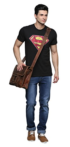 15 Inch Leather Vintage Rustic Crossbody Messenger Courier Satchel Bag Gift Men Women ~ Business Work Briefcase Carry Laptop Computer Book Handmade Rugged & Distressed ~ Everyday Office College School by RusticTown (Image #7)
