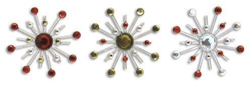 Karen Foster Design Sparkle Burst Brads Embellishments, 6 Holly and ()